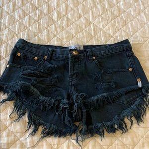 One teaspoon Bonita's black jean shorts